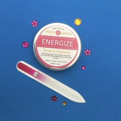 Spa Girl on the Go Energize Body Butter and Medium Glass Nail File